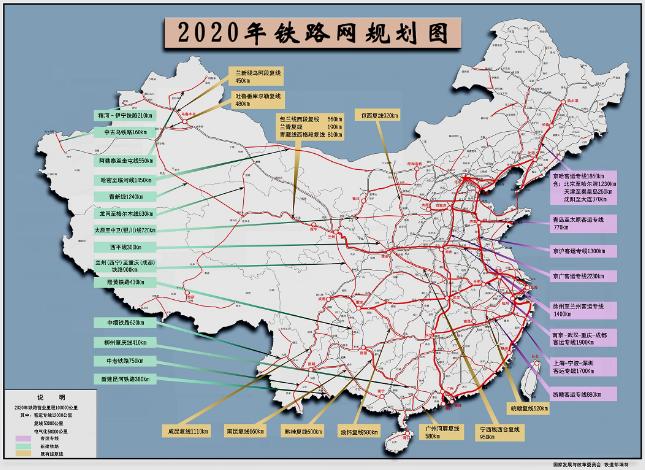 2020铁路网规划图
